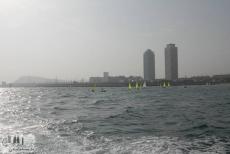 Doppeltürme am Olympischen Hafen von Barcelona