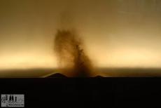 Entstehung eines Vulkanberges