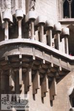Balkon der Innenseite der Geburtsfassade, etwa 1995