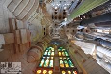Das vollendete Innere der Fassade der Geburt Christi