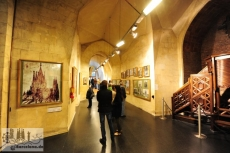 Das Museum der Sagrada Familia im Keller der Basilika zeigt die Baugeschichte und den Ausblick auf das vollendete Bauwerk