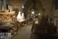 In den Werkstätten im Kirchenkeller werden Modelle der nächsten Bauabschnitte der Sagrada Familia erstellt