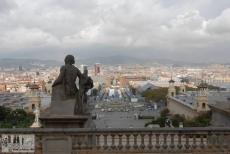 Aussicht vom MNAC über Barcelona