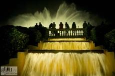 Die Brunnen des MNAC am Abend