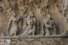 Die Heiligen drei Könige beten Jesus an