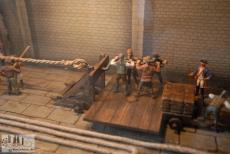 Modell der mittelalterliches Seilfabrik