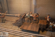 Model of medieval rope factory