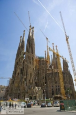 Construction site Sagrada Familia