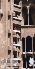 The unfinished interior of the facade of the Nativity, around 1995