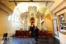 The Museum of the Sagrada Familia in the basement of the Basilica shows the architectural history and the view of the completed building