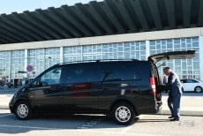 Arrival transfer from the airport (taxi, van, bus)