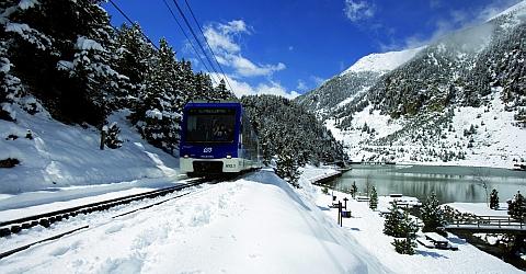 Vall de Núria - mit der Zahnradbahn ins Winterparadies
