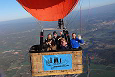 Balloon flight across Catalonia and the Montserrat mountains