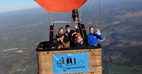 In the hot-air balloon high above Catalonia