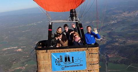 Im Heissluftballon hoch �ber Katalonien