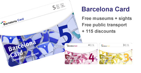 Barcelona Card discounts and free admission to sights