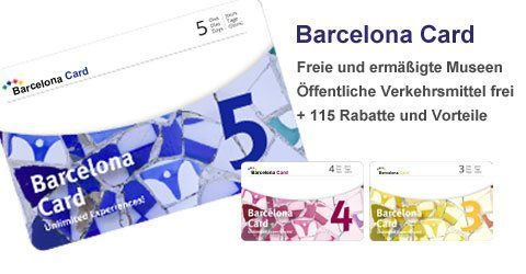 Barcelona Card Erm��igungen und freien Eintritt zu Sehensw�rdigkeiten