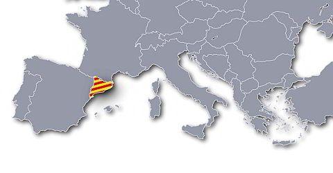 Katalonien auf der Landkarte