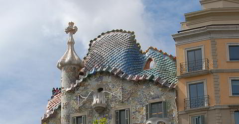 Casa Batlló with the famous back of the dragon