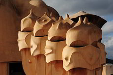 Casa Milà (La Pedrera), quarry house has no right angles