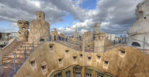 The Casa Milà, one of Gaudí's most famous buildings in Barcelona