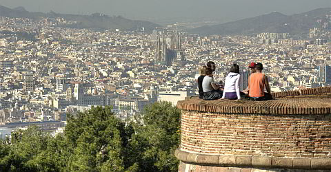 View from the Castell Montjuïc, Barcelona