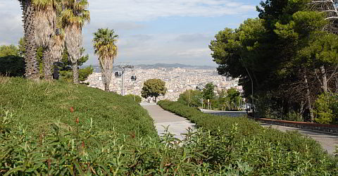 View from the Castell to the city