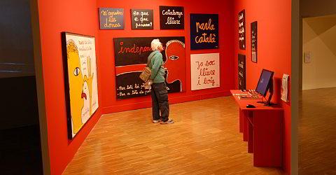 Im CCCB sehen Sie Wechselausstellungen zeitgenössischer Kunst