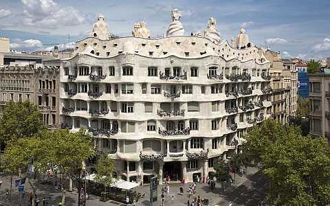 Beliebtes und lohnenswertes Ziel im Eixample, das Casa Milà
