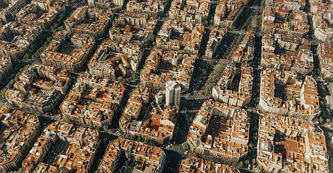 Eixample, district with many Modernisme buildings