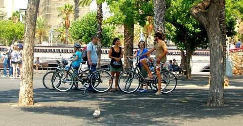 Deutschsprachige Fahrradtour in Barcelona