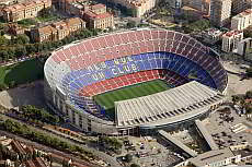 Camp Nou, tha largest football stadium in Europe