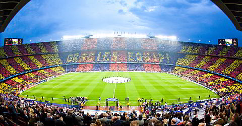 Tickets for home games of FC Barcelona at the Camp Nou
