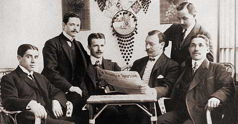 Joan Gamper (3rd from right) and founding members of FC Barcelona