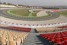 Overview of the Grandstands at the Circuit de Barcelona-Catalunya