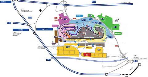 Anreise zum Circuit de Barcelona-Catalunya bei Montmeló
