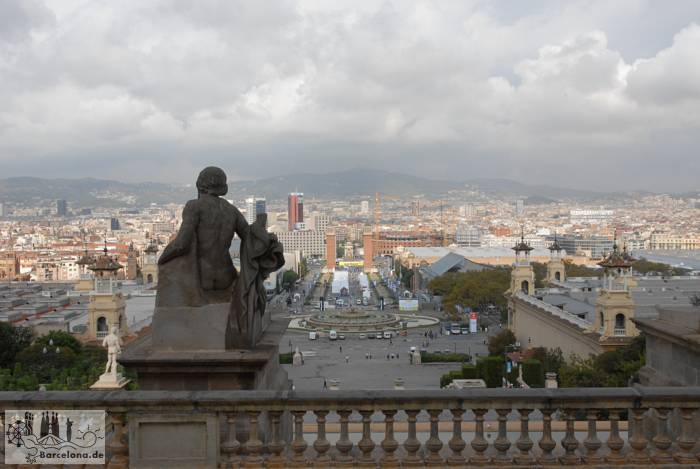 View from the MNAC of Barcelona