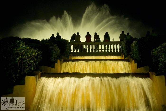 The Fountain of the MNAC in the evening