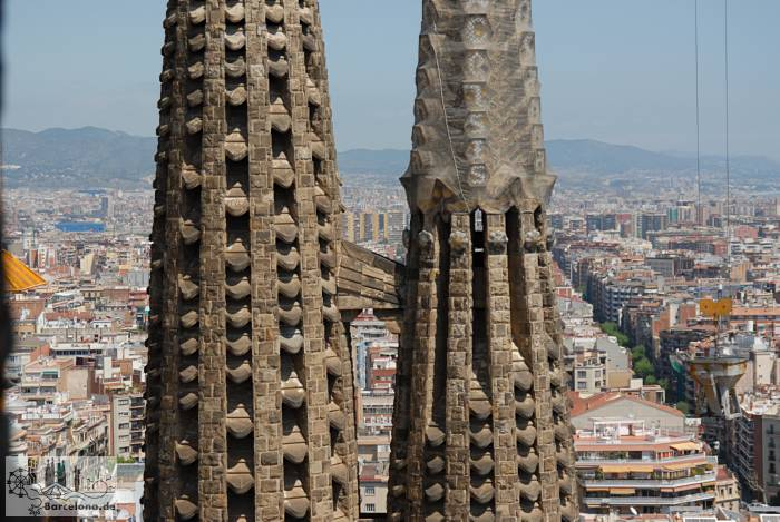 Transition between the two towers of the Sagrada Familia