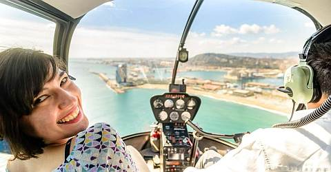 Helicopter sightseeing flight over Barcelona