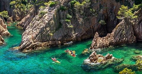 Kayak and snorkelling on Barcelona's Costa Brava coast