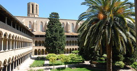 The cloister of Monestir de Pedralbes northwest of Barcelona