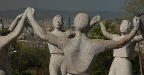 Statue 'Sardana' auf dem Montju�c