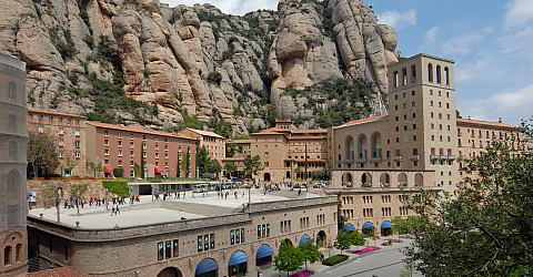 The monastery Santa Maria de Montserrat