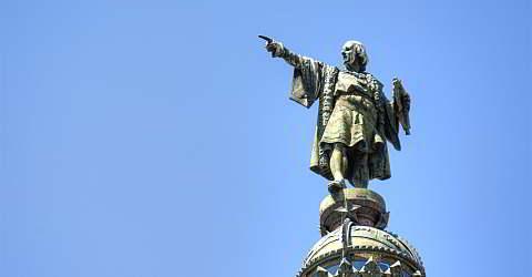 Christoph Kolumbus-Denkmal zwischen Rambla und Hafen