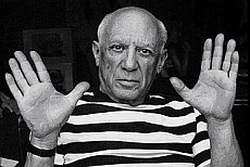 The artist Pablo Picasso in Barcelona