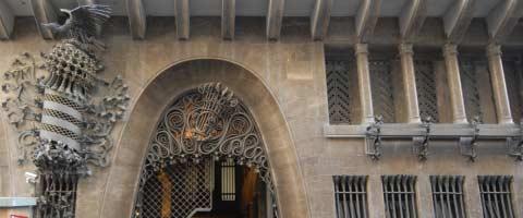The Palau Güell, an early building of Antoni Gaudí in Barcelona