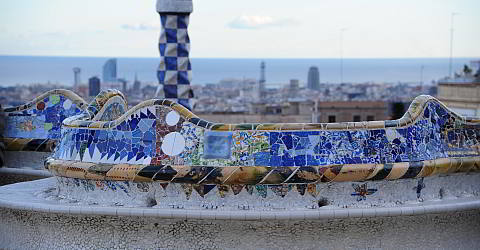 The Parc Guell In Barcelona Designed By Gaudi