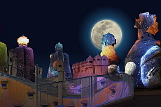 Gaudi's la Pedrera: The Origins, Pedrera at night