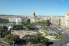 Plaça Catalunya im Zentrum von Barcelona